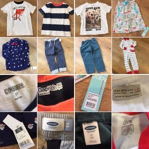 Variety Bundle Toddler boys clothing items 3T-5T